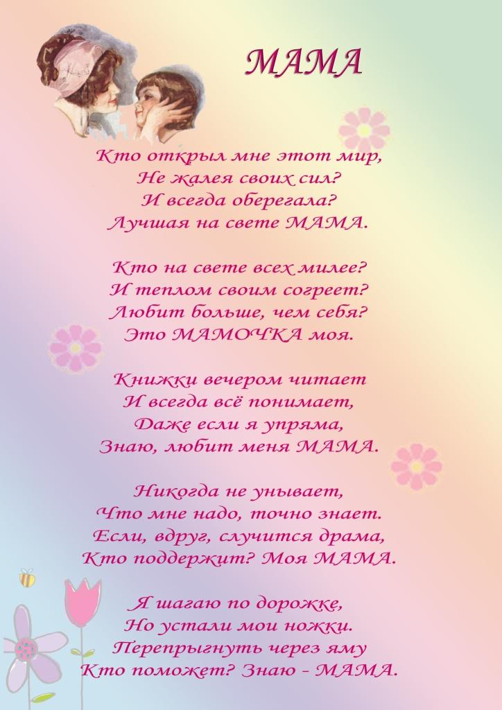 Поздравления праздник день матери