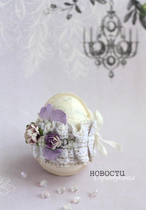 Пасхальное яйцо из упаковки от Kinder Joy - декор