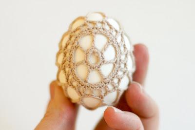 Яйца, обвязанные крючком. Рис22