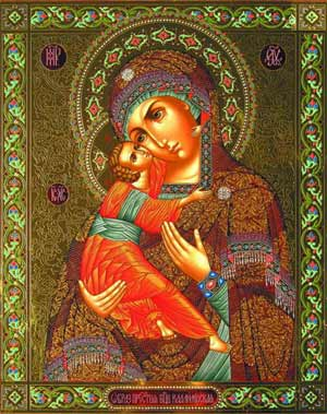 Владимирская икона Божией Матери - 3 июня.