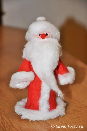 Дед мороз своими руками. фото. Поделки к новому году с детьми