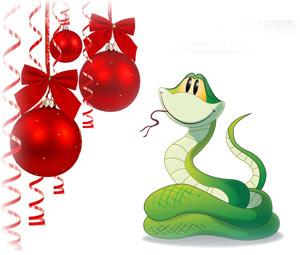 Картинки с новый год 2013 год змеи